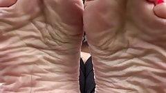 Miss rosie soles feet red toes