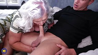 Granny and mom fuck young meat