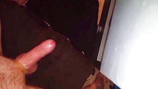 Dick twirl cum hands free