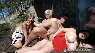 Three rich ladies craving for cum