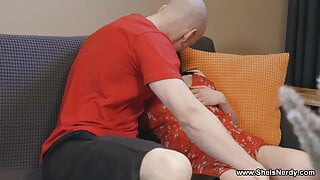 She Is Nerdy - Mileva - Gardener helps brunette cum