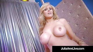 Stripper Step Mom!? Milf Julia Ann Finger Fucks After Stripping!