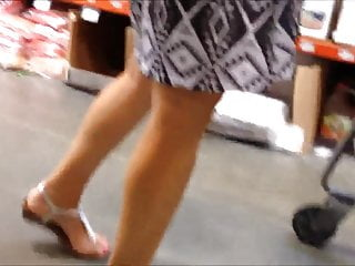 Sex video depot Nice milf upskirt at home depot