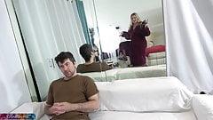 Stepmom does porn to make extra cash