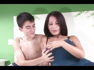 Very young nudes banned - Spanish big boobs milf with very young boy