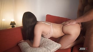 Stepsister With A Big Ass Fucks Me To Get Covered In Cum