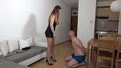 Face slapping slave