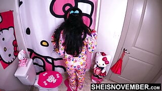 Msnovember Stripping Off These Hot Jammies – Full White Panties