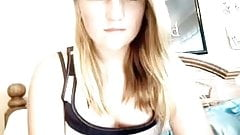 Chubby Girl Playing On Webcam