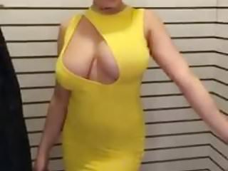 Boob pops out short shirt Pop out boobs