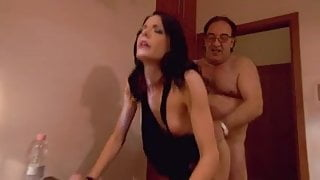 With a prostitute in a hotel room