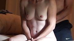 Fit Shy Wife Has Huge Orgasm, Takes Deep Creampie on Hidden