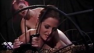 Midget slut gets her hairy pussy shaved by chick