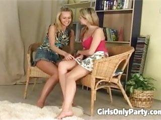 Wild sex parties on the beach Blonde girls get wild on the floor