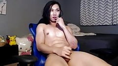 Sexy Amateur Asian Trap In Blue Chair Masturbating