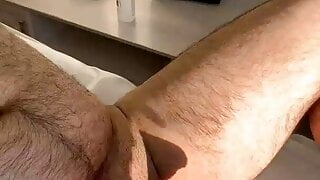 Sexy blonde waxing for a new client