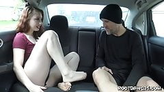 Footfetsh in car