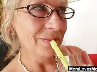 Gramma breasts - Big-titted gramma penetrates a madame