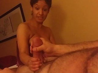Huge 18 inch cock Mia tries to swallow my huge girthy 10 inch