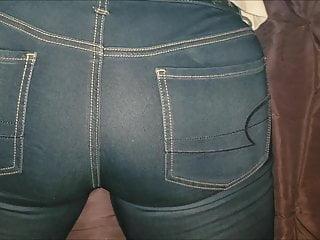 Legal sex ae Cumshot on ae jean leggings