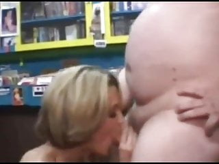 Leah porn shop Fat guy gets bj at porn shop