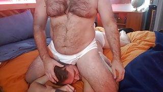 Sensual Massage in White Briefs