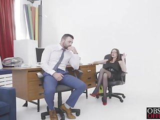 Hardcore black office sex Hot threesome office sex with babes