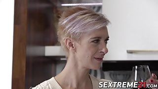 Fit mature babe seduces young stud into hardcore sex