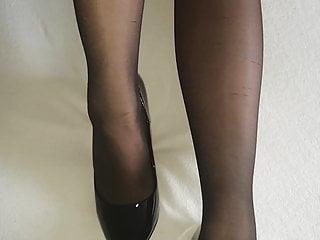 Lick silk stockings high-heeled - Alysha fingering in sheer pantyhose, stockings high heels