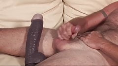 Hot dad jerk off on the couch