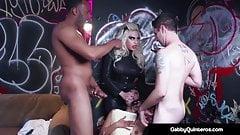 MexiMilf Gabby Quinteros & Vyxen Steele Gangbanged!