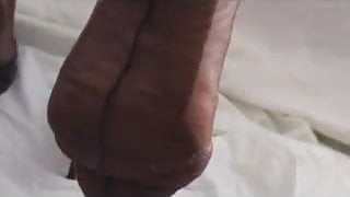 Brown FF stockings
