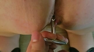 Slutty Tall BBW Mother Anally Submits and uses Large Toys