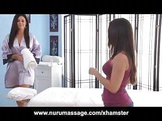 Busty women from india - Kira sinn gets a lesbian massage from india summer