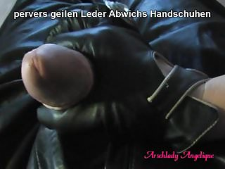 Fucked gay leather - Arschlady angelique fucking blowjob with leather gloves