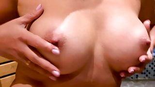 My big beautiful tits in the sauna
