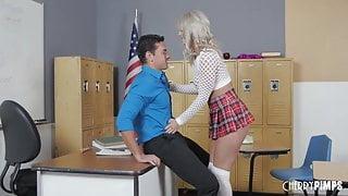 Big Tit Schoolgirl Victoria Wants The Cock Of Her Teacher