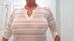 Nice big tits granny