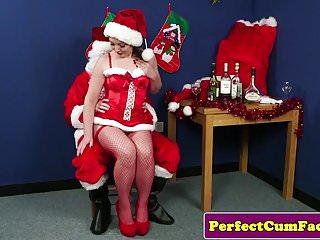 Santas naughty girls porn - Naughty christmas babe cocksucks santa pov