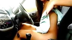 nude girl in car and people can see 1