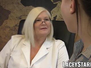 Sexy heals Laceystarr - doctor gilf heals patient with lesbian orgasm