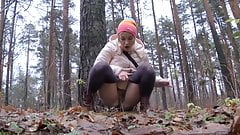 Hairy Pussy Pissing In Forrest