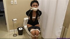 Nicole Oring is Tightly Bound Gagged Babysitter