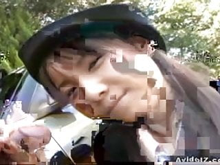 Momo amateur asian Japanese momo aizawa gives an outdoor blowjob