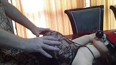 Tits Slapped Hard Wearing Body Stocking