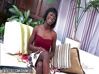 Ana mancini sex Ana foxxx toying her ebony vag with a dildo