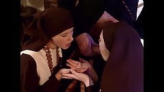 Priest fucks two young nuns in the ass, upscaled to 4K