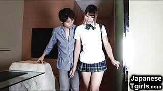 Hot Japanese Shemale with a man 25