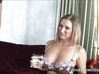 Woman sitting on large dildo Busty amateur girl sitting on a large dong