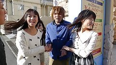 Japanese gal, Kotomi Asakura shares a guy with friends, unce